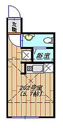 ルクティア新小岩 202号室[2階]の間取り