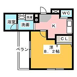 ルソレイユ桜木町[1階]の間取り