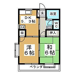 メゾンヴァンガード[1階]の間取り