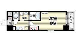 エヴァステージ神戸六甲[1001号室]の間取り
