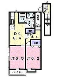 神奈川県横浜市瀬谷区五貫目町の賃貸アパートの間取り