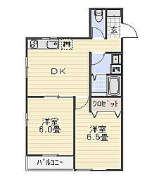 HSK葉山[302号室]の間取り