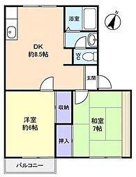 ハウス・ビスカイヤー[2階]の間取り