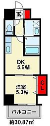 THE SQUARE Grand Residence[407号室]の間取り