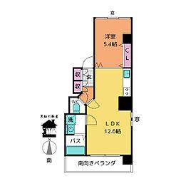 ヴァンテアン大須[6階]の間取り
