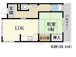 グリーンマンション3階Fの間取り画像