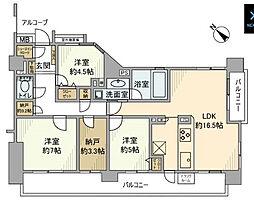 津田沼ローレルコート[5階]の間取り