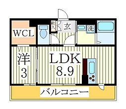 HANABUSAIII[2階]の間取り