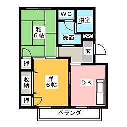 ひだまり B棟[2階]の間取り