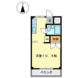 エルカワムラ[302号室]の間取り