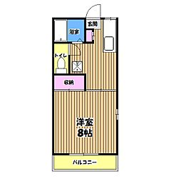 メゾン・ド・ピュアA棟[1階]の間取り