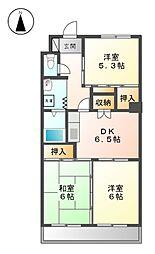 サンマンションチェリー[3階]の間取り