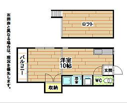 福岡県北九州市八幡西区東筑2丁目の賃貸アパートの間取り