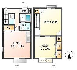 RelifeCourt稲田 C[1階]の間取り