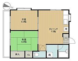 埼玉県さいたま市中央区上峰1丁目の賃貸アパートの間取り