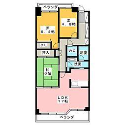 山手通シティハウス 708号室[7階]の間取り