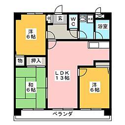 コンフォート松川[2階]の間取り