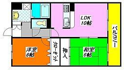 エタージュ・高井田 305号室[3階]の間取り