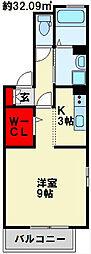 福岡県北九州市小倉北区木町3丁目の賃貸アパートの間取り