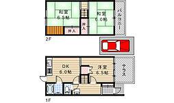 [タウンハウス] 大阪府東大阪市日下町7丁目 の賃貸【/】の間取り