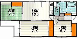 セザール麩屋町[4階]の間取り