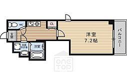 スターウィン烏丸七条[4階]の間取り