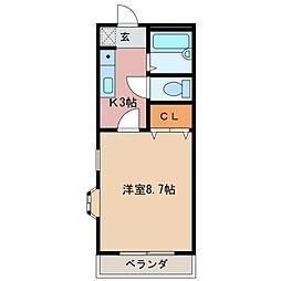 三重県松阪市東町の賃貸マンションの間取り