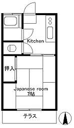 台二荘[1階]の間取り