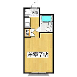 Calmマンション[1階]の間取り
