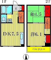 第3ウッディビル[1階]の間取り
