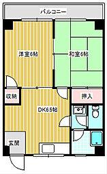 大阪府大阪市住之江区御崎6丁目の賃貸マンションの間取り
