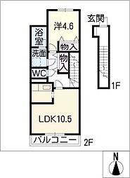 リ・スピカ[2階]の間取り