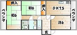柏田ハイツ[2階]の間取り