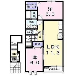 ラ・フォレ・トキワA[2階]の間取り