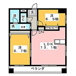 Benvennuto天神塚[2階]の間取り