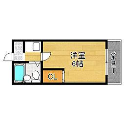 ハイム背戸口[2階]の間取り