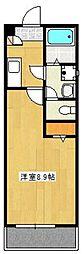 クレフラスト塔原東 1階1Kの間取り