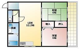 兵庫県明石市二見町福里の賃貸マンションの間取り