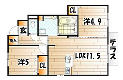 ポサーダ本城[1階]の間取り