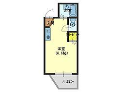 大阪府大阪市生野区新今里4の賃貸マンションの間取り