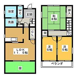 [テラスハウス] 静岡県静岡市清水区能島 の賃貸【/】の間取り
