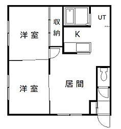ワンダーハイツ98[1階]の間取り