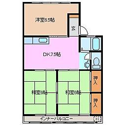 コーポ千代崎[1階]の間取り
