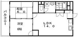 新潟駅南ハイツ[4階]の間取り