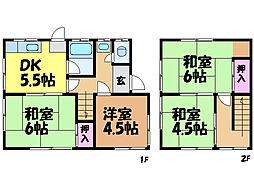 [一戸建] 愛媛県松山市束本2丁目 の賃貸【愛媛県 / 松山市】の間取り