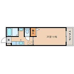 奈良県奈良市菖蒲池町の賃貸アパートの間取り