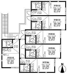 ユナイトステージ 小倉ファースト[2階]の間取り
