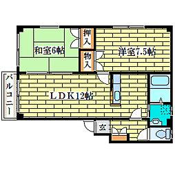 カムヒル[1階]の間取り
