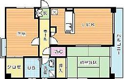 プレステージ・デル片野[303号室]の間取り