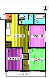 第6池田マンション[2階]の間取り